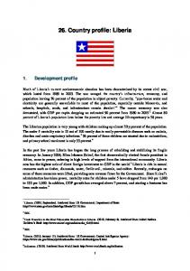 26. Country profile: Liberia