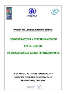 26 DE AGOSTO AL 11 DE SETIEMBRE DE 2003 MONTEVIDEO, URUGUAY LABORATORIO TECNOLOGICO DEL URUGUAY (LATU)