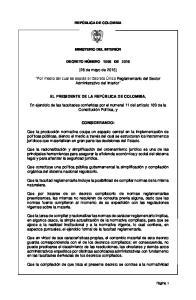 (26 de mayo de 2015) Por medio del cual se expide el Decreto Único Reglamentario del Sector Administrativo del Interior