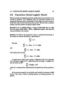 2.6 Population Model-Logistic Model