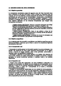 2.6 SEGUNDO CURSO DEL NIVEL INTERMEDIO Objetivos generales