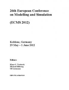 26th European Conference on Modelling and Simulation
