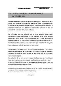 2.7 POTENCIALIDAD DE LOS SUELOS RURALES (APTITUD DE USO)