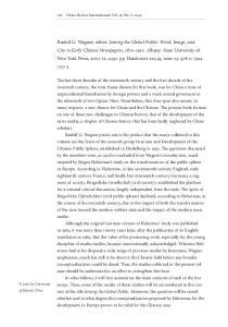 276 China Review International: Vol. 6, No. 2, 2009