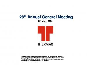 28 th Annual General Meeting