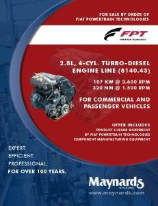2.8L, 4-cyl. turbo-diesel engine line ( )