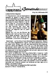 28.November Liebes Gemeindeglied