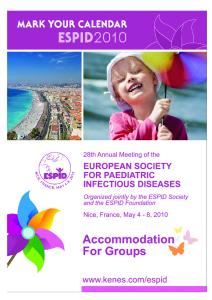 28th Annual Meeting of the European Society for Paediatric Infectious Diseases ESPID 2010