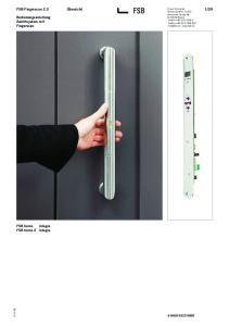 29. Bedienungsanleitung Zutrittsystem mit Fingerscan. FSB home integra FSB home 2 integra
