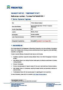29.1 IT Senior Systems Engineer