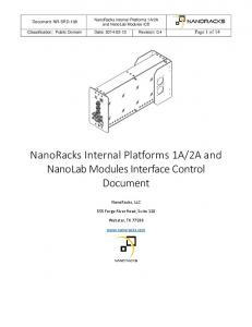 2A and NanoLab Modules Interface Control Document