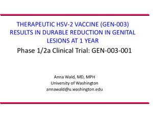 2a Clinical Trial: GEN