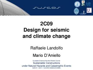 2C09 Design for seismic and climate change