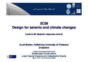 2C09 Design for seismic and climate changes