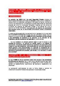 2.CONCEPTO DE LA COMUNICACIÓN PREVIA Y LA DECLARACIÓN RESPONSABLE
