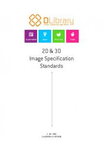 2D & 3D Image Specification Standards