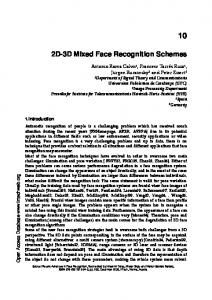 2D-3D Mixed Face Recognition Schemes