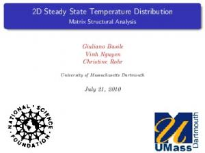 2D Steady State Temperature Distribution