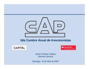 2da Cumbre Anual de Inversionistas. Jaime Charles Coddou Gerente General