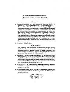 2ed. Answers to selected exercises - Chapter 5