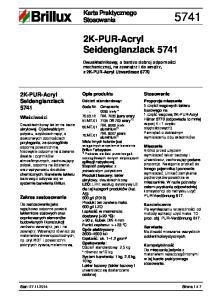 2K-PUR-Acryl Seidenglanzlack 5741