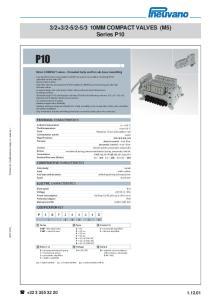 3 10MM COMPACT VALVES (M5) Series P10