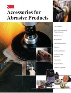 3 Accessories for Abrasive Products