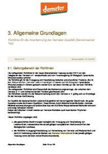 3. Allgemeine Grundlagen