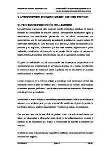 3. ANTECEDENTES ECONOMICOS DEL ESTUDIO TECNICO