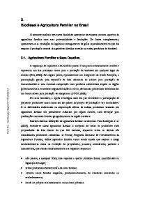 3. Biodiesel e Agricultura Familiar no Brasil