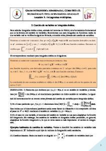 3. Cambio de variables en integrales dobles