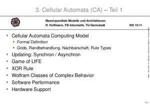 3. Cellular Automata (CA) Teil 1
