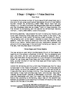 3 Days + 3 Nights = 1 False Doctrine