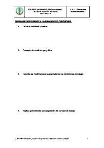 3. Describe las modificaciones sustanciales de las condiciones de trabajo
