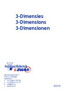 3-Dimensies 3-Dimensions 3-Dimensionen