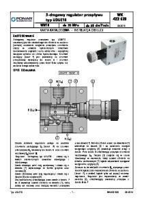 3-drogowy regulator przepływu typ UDUE10