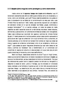 3. El Quijote (obra singular) como paradigma y como desmentido