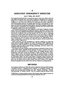 3 GERIATRIC EMERGENCY MEDICINE