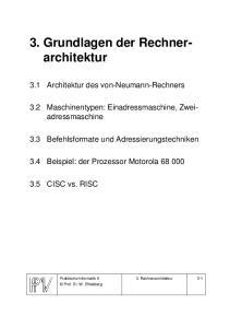 3. Grundlagen der Rechnerarchitektur