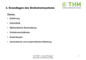 3. Grundlagen des Drehstromsystems