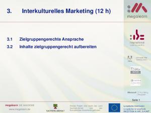 3. Interkulturelles Marketing (12 h)