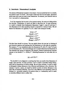 3. Interlude: Dimensional Analysis
