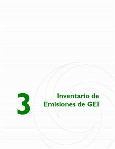 3. Inventario de Emisiones de GEI. Inventario de