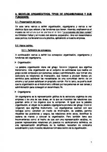 3. MODELOS ORGANIZATIVOS, TIPOS DE ORGANIGRAMAS Y SUS FUNCIONES