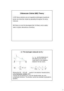 3 Molecular Orbital (MO) Theory
