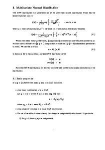 3. Multivariate Normal Distribution