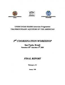 3 nd COORDINATION WORKSHOP