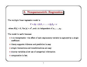 3. Nonparametric Regression