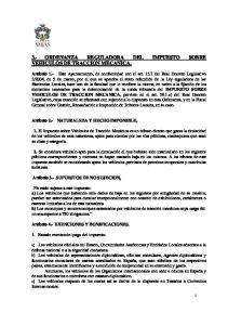 3.- ORDENANZA REGULADORA DEL IMPUESTO SOBRE VEHICULOS DE TRACCION MECANICA