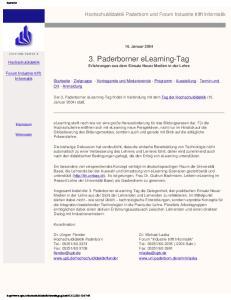 3. Paderborner elearning-tag